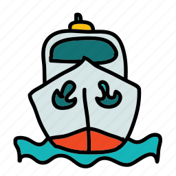 anchor, boat, sea, ship, transportation icon