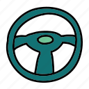 steering, transportation, vehicle, wheel icon
