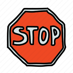 road, sign, stop, street, transportation icon