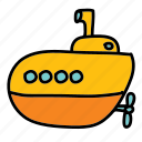 boat, cruise, submarine, transportation, trip icon