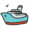 boat, cruise, ship, tourist, transportation icon