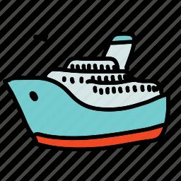 boat, cruise, ship, tourist, transportation icon