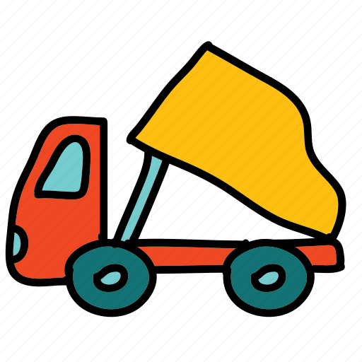 delivery, tranport, transportation, truck, unloading icon