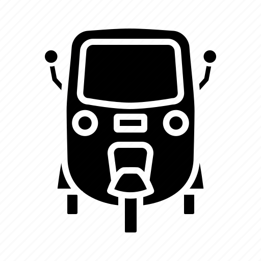 auto, auto rickshaw, cab, public transportation, rickshaw, taxi icon