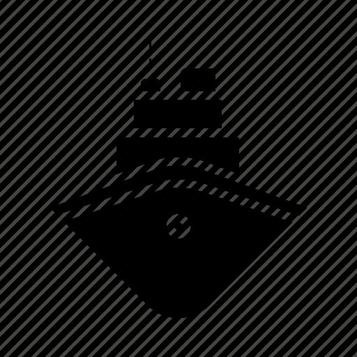 boat, crise, cruiser, ship, shipment, transportation, vehicle icon