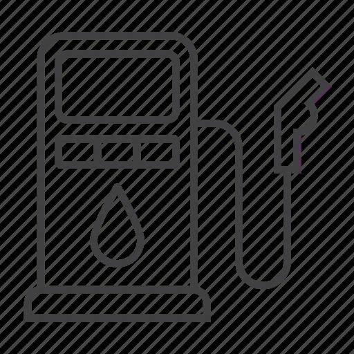 car, gas, gasoline, oil, petrol, pump, station icon
