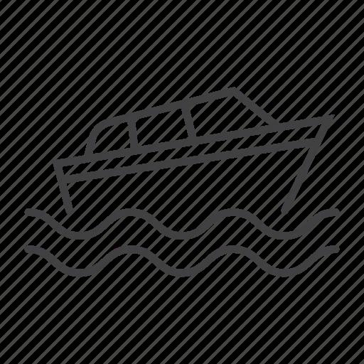 boat, speed, transport, transportation, vehicle, yacht icon
