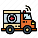 ambulance, emergency, medical, transport icon