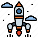rocket, spaceship, startup, transport icon