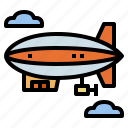 aircraft, flying, hydrogen, zeppelin icon