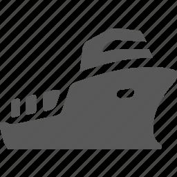 cargo, cargo ship, sea, sea transportation, ship, transportation icon