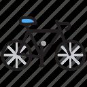 bicycle, cycle, cycling, manual bike, pedal bike icon