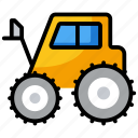 delivery lifter, fork lift, forklift truck, lifter, logistics, transport icon