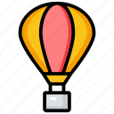 adventure, aircraft, fire balloon, hot air balloon, parachute balloon icon