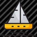 beach fun, boat, canoeing, rafting, summer fun, water sports icon