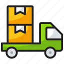 delivery services, delivery truck, delivery vehicle, goods delivery van, logistics icon