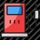 fuel dispenser, fuel station, petrol bowser, petrol kiosk, petrol pump icon