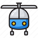 air transport, aircraft, chopper, heli, helicopter icon