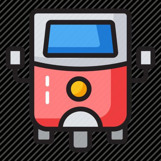 auto, rikshaw, three wheeler auto, transport, tuk tuk icon