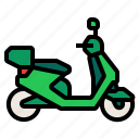 autobike, moped, motorcycle, scooter, transport icon