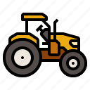 agricultural, agriculture, farm, tractor, transport icon