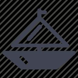 boat, sail, transport, transportation, vehicle, yacht icon