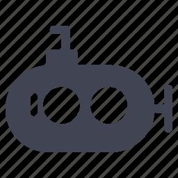 marine, ocean, sea, submarine, transport, transportation, vehicle icon