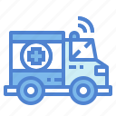 ambulance, emergency, medical, transport icon