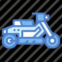 motorbike, motorcycle, scooter, transportation