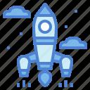 rocket, spaceship, startup, transport
