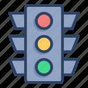 lamp, light, road, sign, street, traffic, traffic light