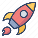 launch, rocket, ship, spacecraft, spaceship, startup