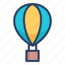 air balloon, airballoon, airship, flight, fly, transport icon