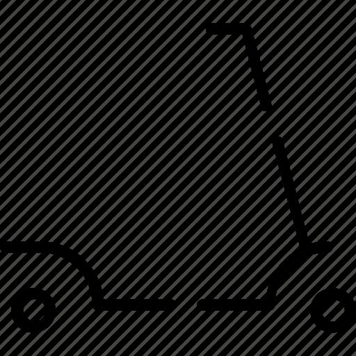 Cart, scooter, transport, transportation, travel, trem, vehicle icon - Download on Iconfinder