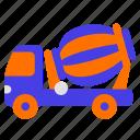 car, traffic, transport, transportation, truck mixer