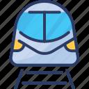 commute, transportation, train, metro, subway, tramway, travel icon