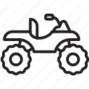 bike, camo bike, mode, outline, quad, quadricycle, transport icon