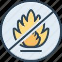 ban, dangerous, flame, hazard, moratorium, restricted, sign