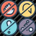 ban, dangerous, flame, hazard, moratorium, restricted