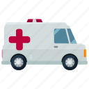 ambulance, emergency, health, medical, transportation, vehicle icon
