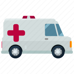 ambulance, emergency, health, medical, transportation, vehicle icon