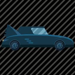 bat mobile, car, transport, transportation, vehicle icon
