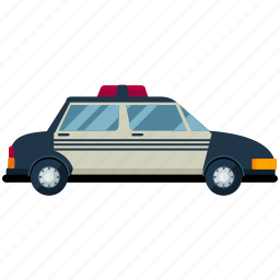 automobile, car, police, transport, transportation, travel, vehicle icon