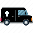 car, herse, transport, transportation, travel, undertaker icon