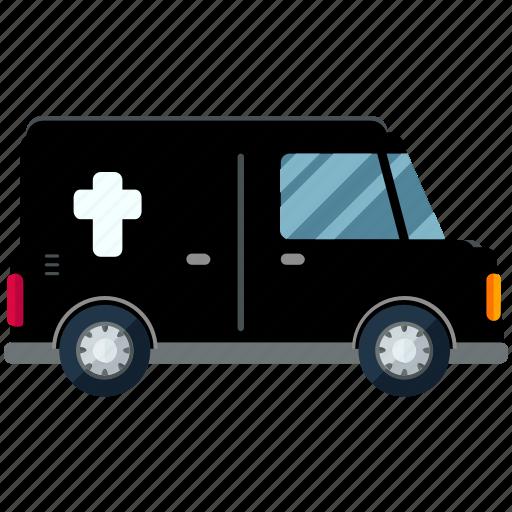 car, herse, transport, transportation, travel, undertaker icon