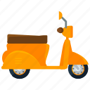 scooter, transport, transportation, travel, vehicle, vespa icon