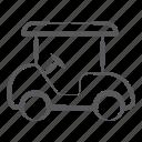 golf car, golf cart, golf buggy, club car, vehicle, transport icon
