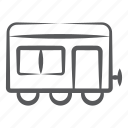 cargo container, cargo train, freight container, freight train, transport icon
