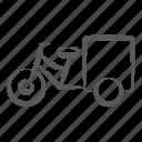 passenger transportation, rickshaw, cycle cart, cycle rickshaw, transportation vehicle icon