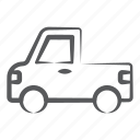 luggage carrier, mini pickup, pickup, pickup truck, pickup van, pickup wagon